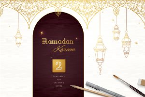 Set Of Pre-Made Ramadan Cards Vol.2