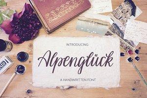 Alpenglueck - a handwritten font