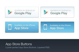 App Store Buttons (PSD)