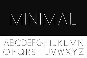 Minimalistic Letters. Thin design.