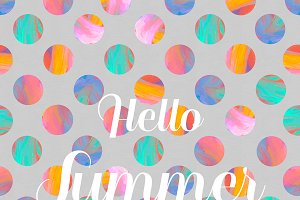 Hello Summer Polka dots pattern
