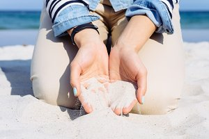 Sand in hands