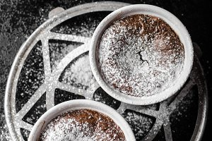 Chocolate souffle delicious