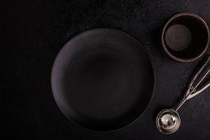Blank black plate
