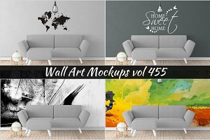 Wall Mockup - Sticker Mockup Vol 455