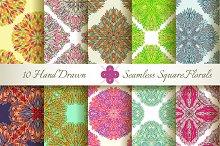 10 Seamless Square Patterns Set#2