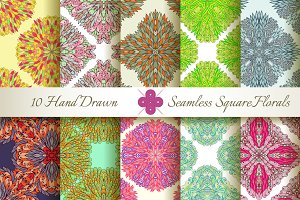 10 Seamless Square Patterns Set#2