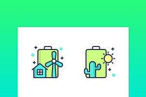 Battery Icons / Illustrations