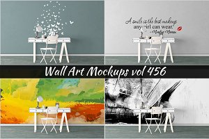 Wall Mockup - Sticker Mockup Vol 456