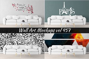 Wall Mockup - Sticker Mockup Vol 457