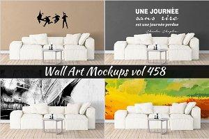 Wall Mockup - Sticker Mockup Vol 458