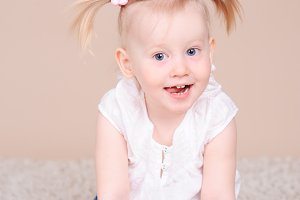 Pretty kid girl smiling