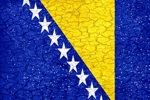 Bosnia Herzegovina Flag Urban Grunge Pattern