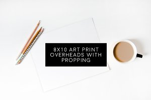 5 Blank Overhead 8x10 Art Prints
