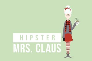 Hipster Mrs. Claus