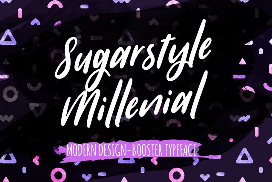 Best Sugarstyle Millenial Typeface Vector