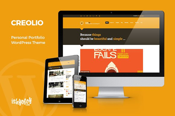 Creolio Unique Portfolio WP Theme