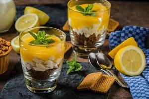 Mini Lemon Curd Cheesecakes