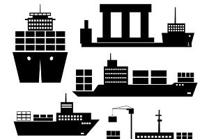 Transportation and shipping icons