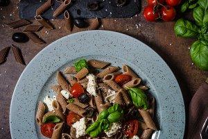 Whole grain pasta
