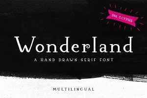 Wonderland - A Hand Drawn Serif Font