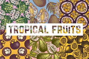 Tropical Fruits & Plants Patterns