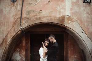 Lovers in old city