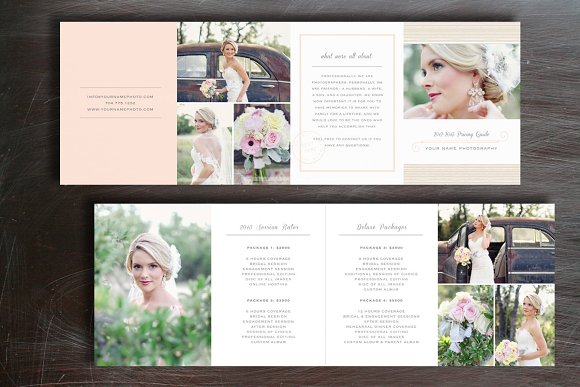 pricing guide photography brochure templates creative market