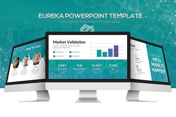 eureka powerpoint template presentation templates creative market