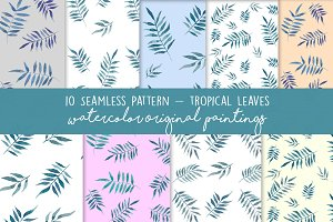 Tropical Seamless Palm Pattern