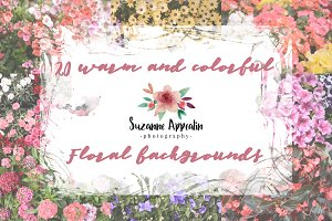 20 HDEF colorful floral backgrounds