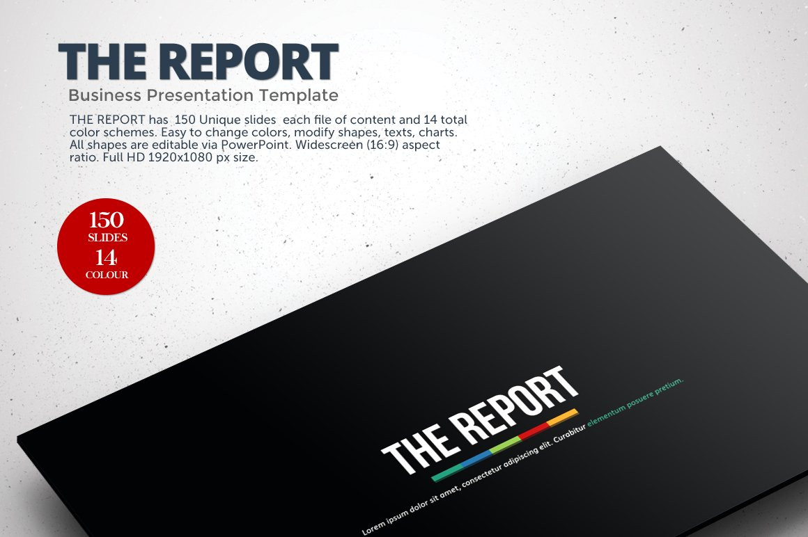 The report powerpoint template presentation templates creative the report powerpoint template presentation templates creative market toneelgroepblik Gallery
