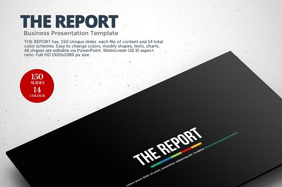 The Report Powerpoint Template Presentation Templates on – Business Reporting Templates