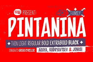 Pintanina Family / Greek+Cyrillic.
