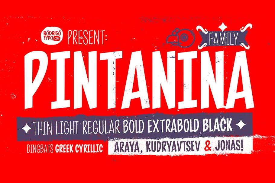 Pintanina Family / Greek+Cyrillic.