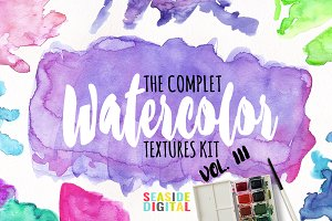 Watercolor Textures - Vol. III