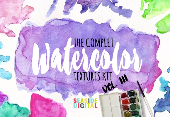 Watercolor Textures Vol III