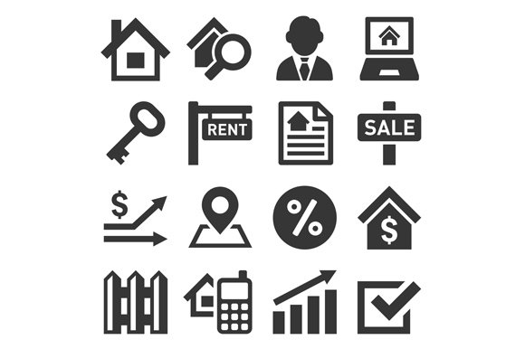 Real Estate Icons in Icons