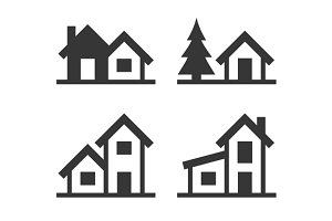 Home Icons Set for Real Estate Logo