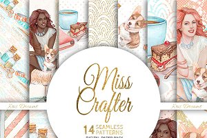Miss Crafter Digital Paper
