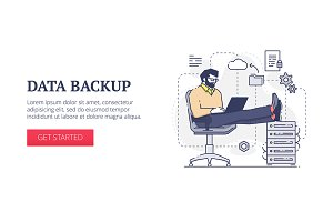 'Data backup' web banner