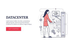 'Data center' web banner