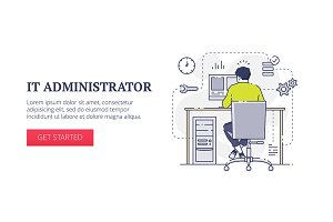 'IT administrator' web banner