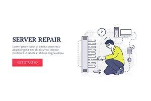 Server repair web banner