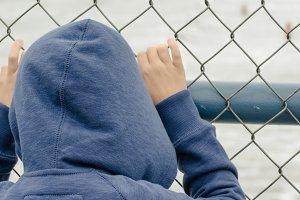 Child, Fence, Ocean
