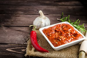 Very spicy tomato sauce for grill