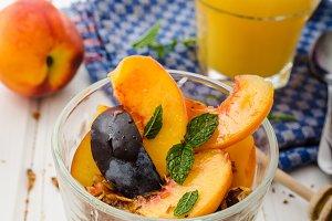 Greek yogurt with fresh fruit
