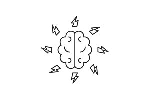 Brainstorm line icon