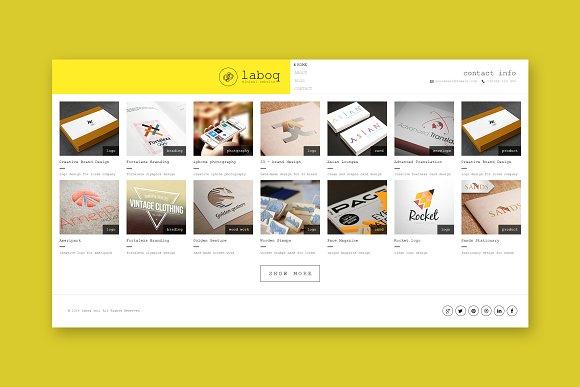 Laboq Minimal HTML Template