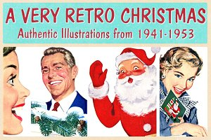 Retro Christmas Illustrations